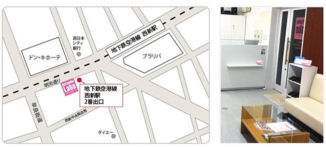 地図 西新店