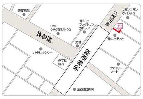 地図表参道店